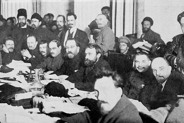 Presidium of the 9th Congress of the Russian Communist Party Bolsheviks